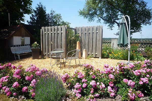 Ein Ort der Ruhe, ebenfalls im Garten