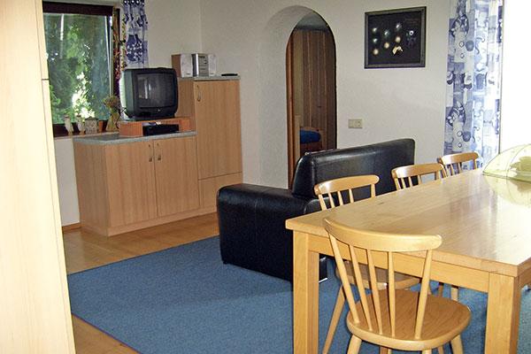 Sofa mit TV im Wohnbereich